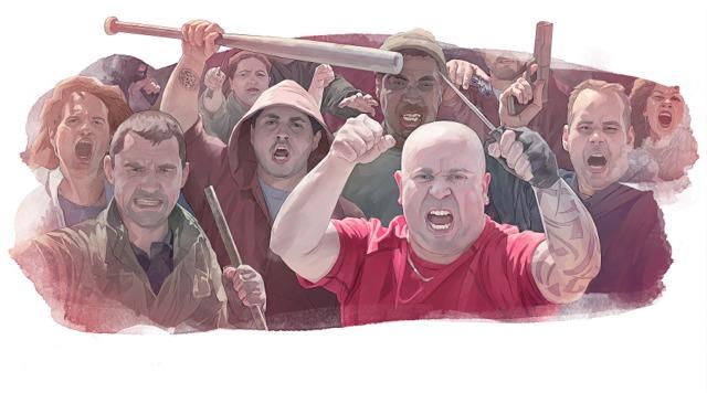 Разгневена тълпа