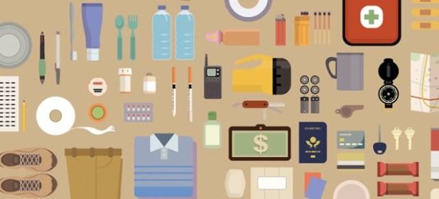 Itens de um kit de emergência