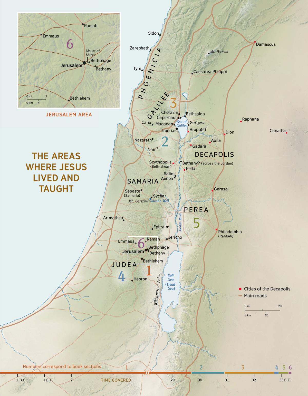 Printable Map Of Israel In Jesus Time