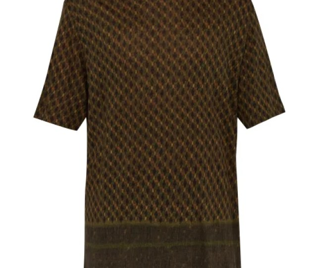 Etro Linen T Shirt Mens Green Multi