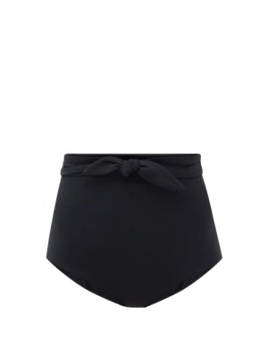 Mara Hoffman - Jay High-rise Recycled Fibre-blend Bikini Briefs - Womens - Black