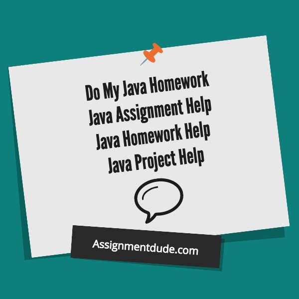 Do My Java Homework | Do My Java Assignment - TFTH