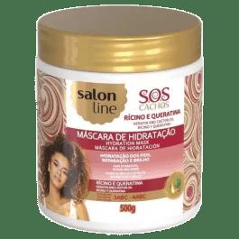 Salon Line S.O.S Cachos Rícino e Queratina Máscara de Hidratação 500gr