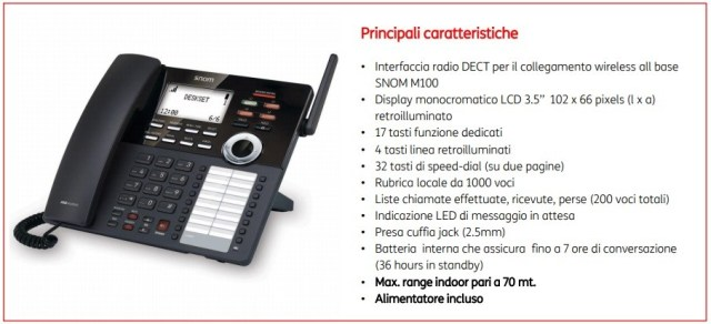 Centralino NICI - Telefono Fisso Dect da Scrivania