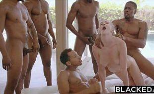 Kendra Sunderland em vídeo de orgia violenta com os sarados