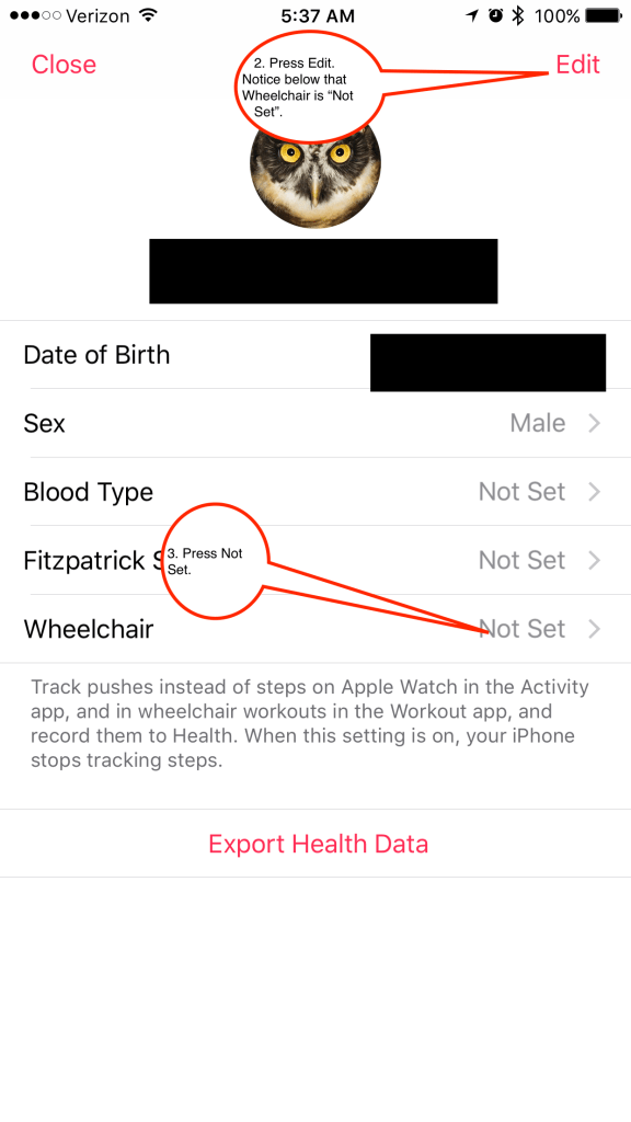 """On the next screen, click Edit on the top right and set """"wheelchair"""" to yes. This would be the last option on the screen."""