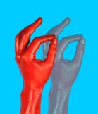 gesture for drag and drop- touching thumb and index finger and moving