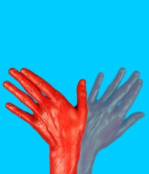gesture for switch - all fingers upright, moving
