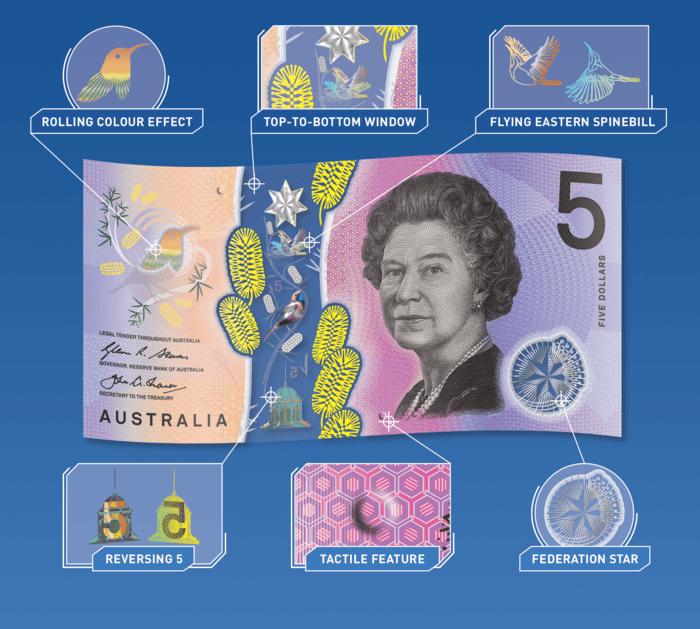 australian new $5 bill