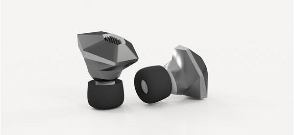 image of 3d printed HeX earbuds by student Elen Parry