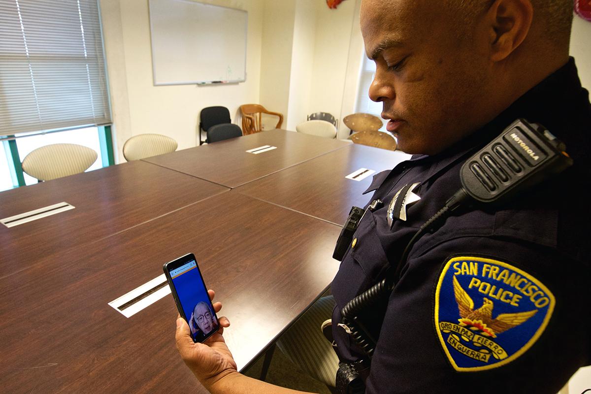 sfpd police office using app