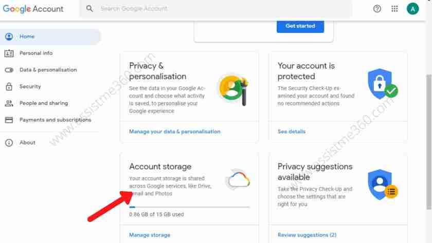 Steps to check gmail storage (3)