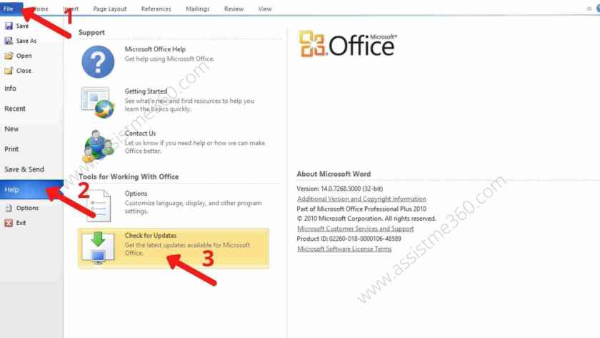 Check for Outlook update (2)