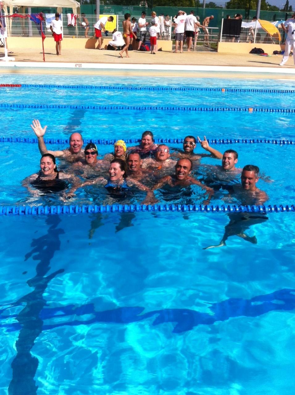 La Dream Team dans l'eau du lagon, euh non .... de Langon