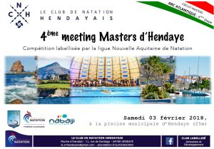 4ème Meeting Masters d'Hendaye @ Piscine municipale  Irandatz | Hendaye | Aquitaine | France