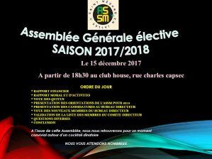 Assemblée Générale Élective de l'ASSM @ Club House Monplaisir | Saint-Médard-en-Jalles | Nouvelle-Aquitaine | France