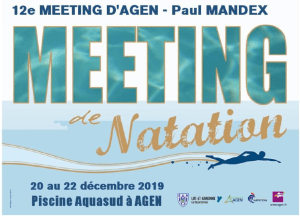 12e Meeting National d'Agen Paul MANDEX @ Piscine Aqua'Sud