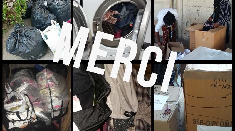 Expédition et distribution de vêtements 2018
