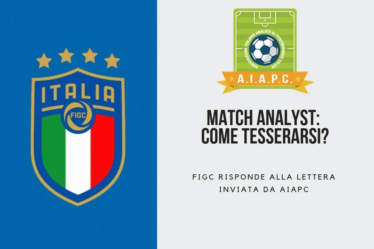 Match Analyst: come tesserarsi? FIGC risponde alla lettera inviata da AIAPC