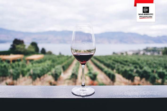 Compra online dispara envio de vinhos Franchising Mail Boxes Etc.