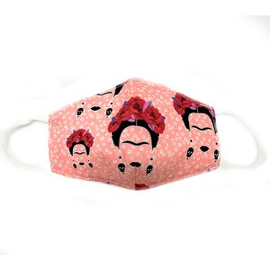 mascarilla frida rosa