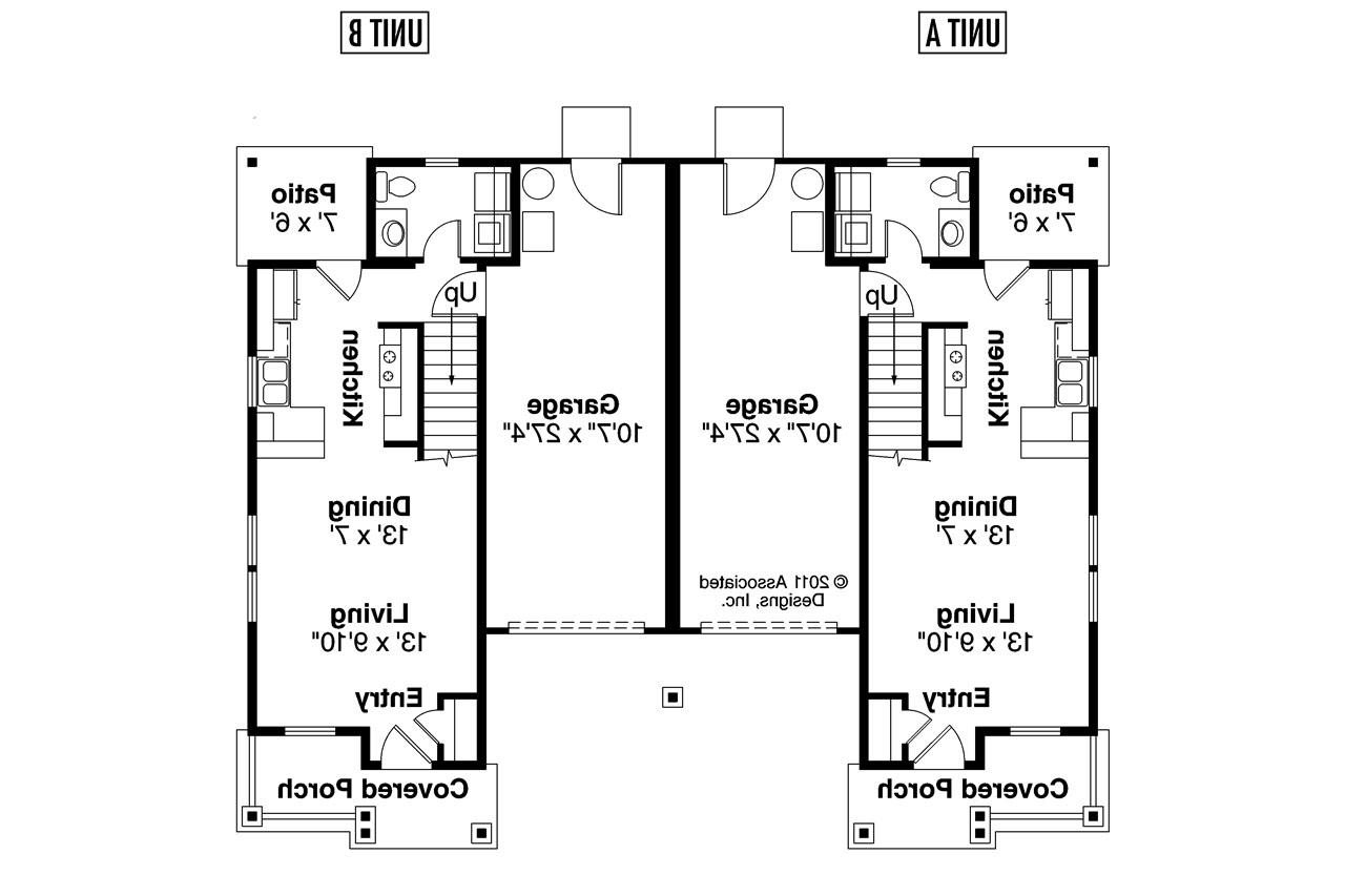 20 Perfect Images Single Story Duplex House Plans
