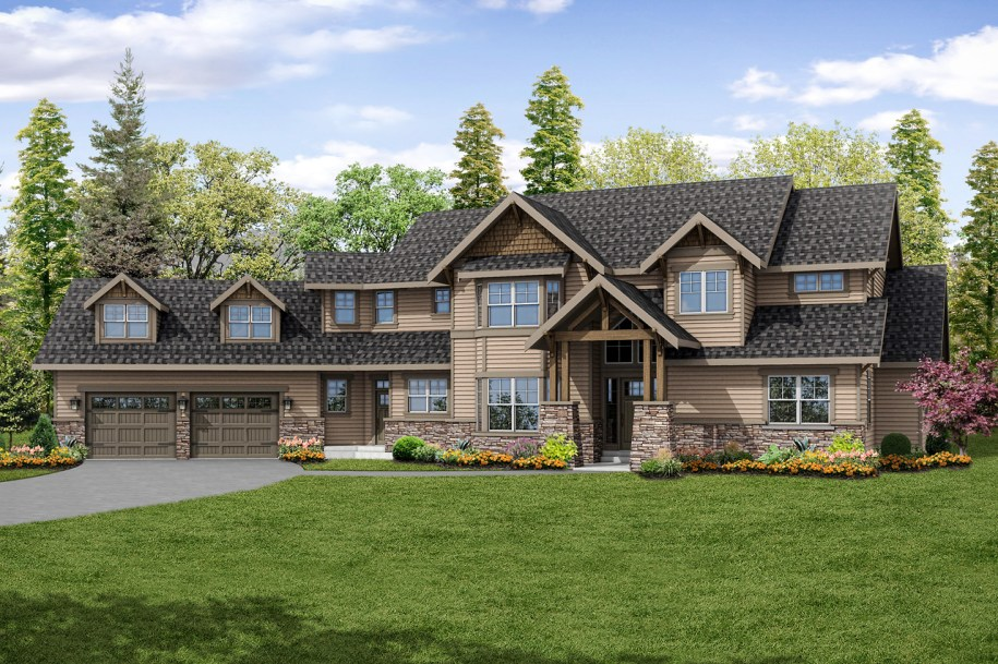 Lodge Style House Plans - Timberline 31-055 - Associated ...