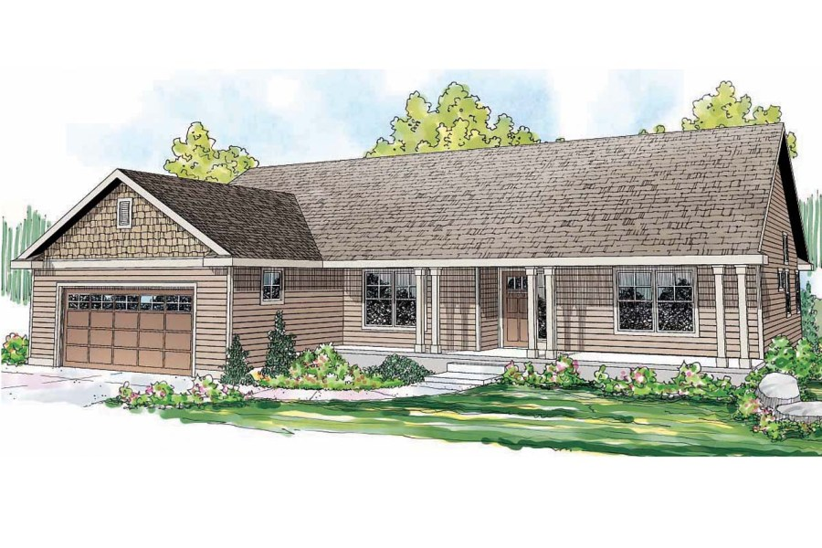 Ranch House Plans   Fern View 30 766   Associated Designs Ranch House Plan   Fern View 30 766   Front Elevation