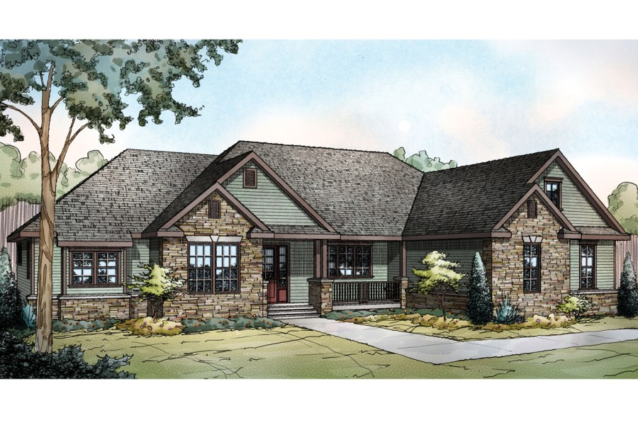 Luxury House Plans   Luxury Home Plans   Associated Designs Ranch House Plan   Manor Heart 10 590   Front Elevation