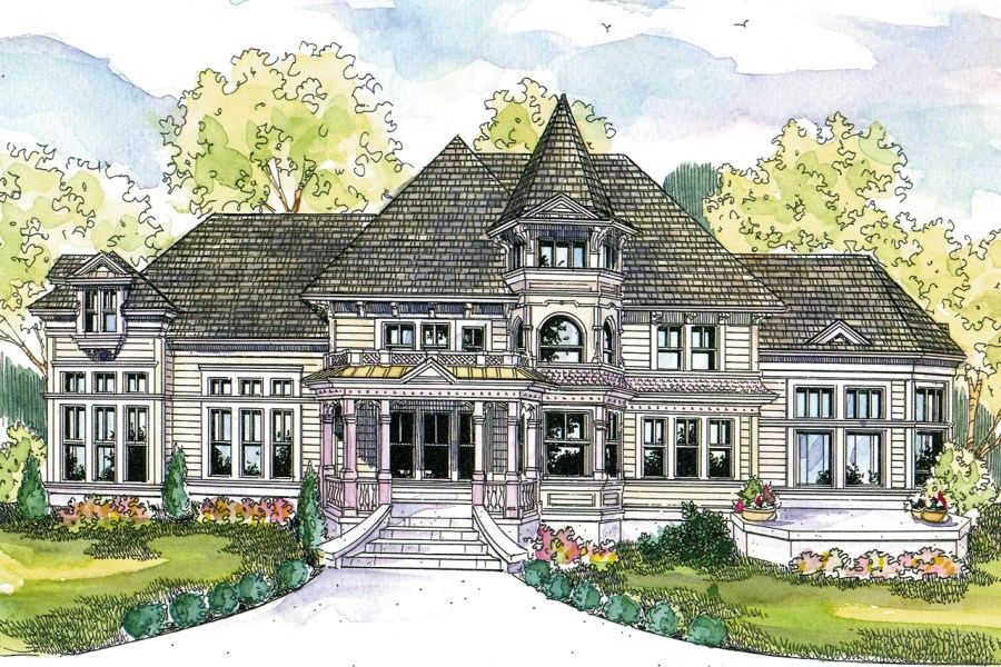 Victorian House Plans   Canterbury 30 516   Associated Designs Victorian House Plan   Canterbury 30 516   Front Elevation