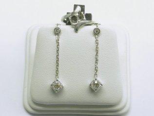 custom dangling diamond earrings