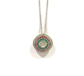 Custom Mothers pendant with genuine gemstones