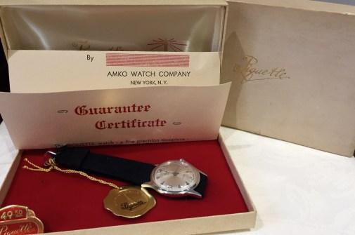 Vintage Piquette Mens Suede Strap Watch