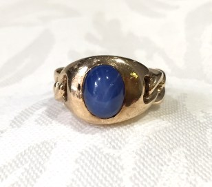 GD 2323 Blue Lindy Star Sapphire Ring