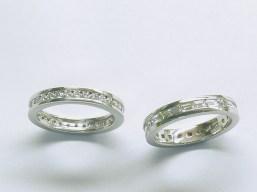 Custom channel set wedding bands