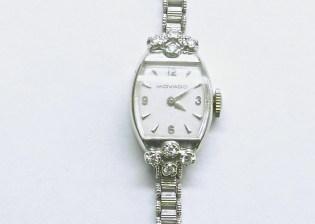 lvw-200 Ladies vintage Movado watch, 14K white gold