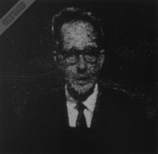Pat Astley, with glasses, announcing for ATV