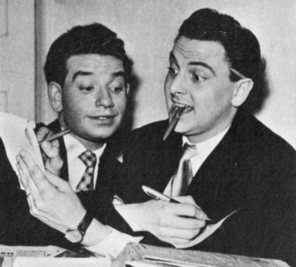 Denis Goodwin and Bob Monkhouse host the quiz show Bury Your Hatchet