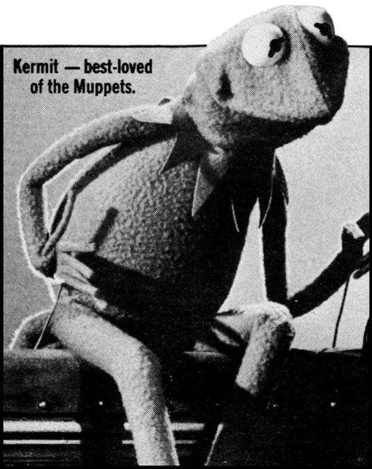 Kermit - best-loved of the Muppets.