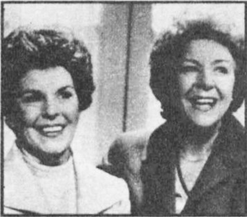 """Meg Mortimer's Lookalike turned out to be Mrs. Elizabeth Jude of South Humberside and like all the winning doubles in the competition she was delighted to meet her match. """"I was speechless when I met Noele Gordon,"""" she said. """"But she was so sweet. I remember once that a woman wanted my autograph and absolutely insisted I was Noele until I identified myself with my driving licence."""""""