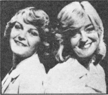 "Crossroads' Susan Hanson (who plays Diane Parker) giggled with amazement when she met her double, Lillian Rosamond, 25, of South Shields. ""People are always nudging each other and staring at me when I'm on trains,"" said Lillian. ""I've heard them say I must be Sue Hanson."" Said Susan: ""Side-face and across the eyes, the likeness Is incredible."""