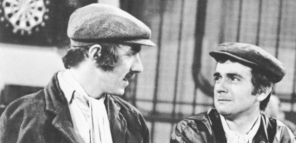 Peter Cook and Dudley Moor in character