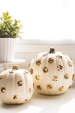 Sequined Polka Dot Pumpkins