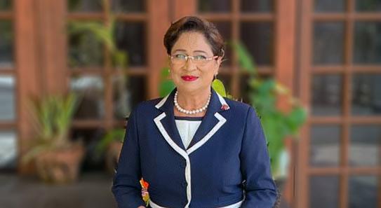 Trinidad and Tobago leader of opposition, Kamla Persad Bissessar