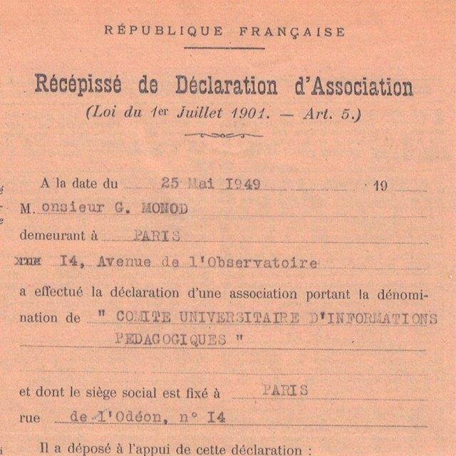 Déclaration d'association