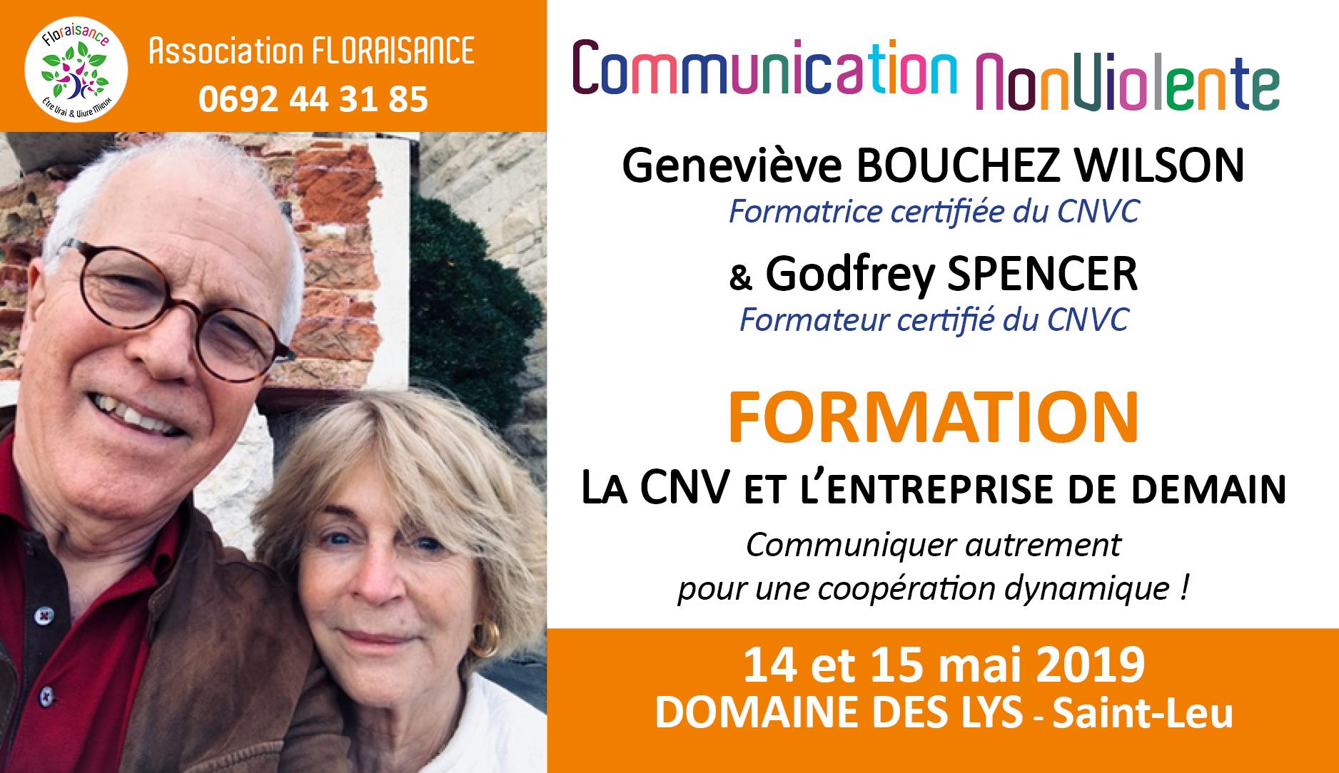 affiche Geneviève et Godfrey - formation 14 et 15 mai