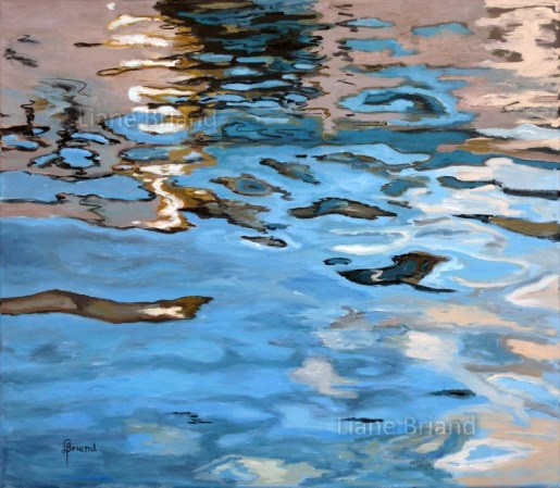 Mer d'huile - 65x54cm ©Liane Briand
