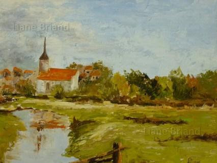 Paysage Basse-Normandie - 50x61cm ©Liane Briand