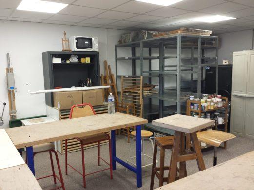 Un petit aperçu du nouvel atelier en cours de réaménagement