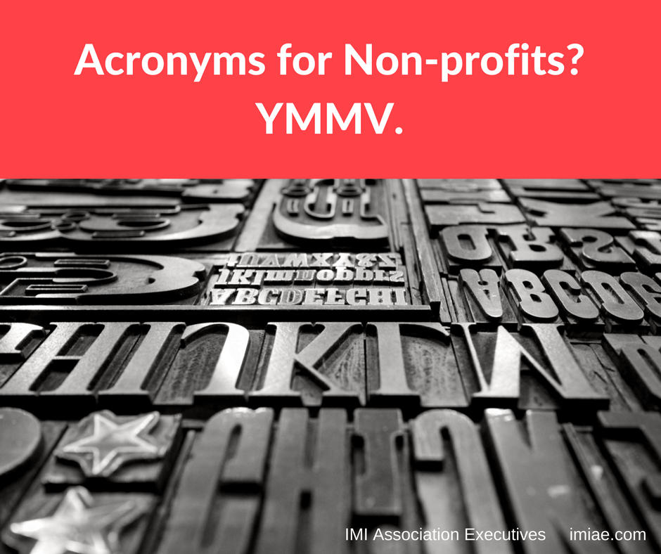 Acronyms For Non Profits Ymmv Let Your Association Take Flight